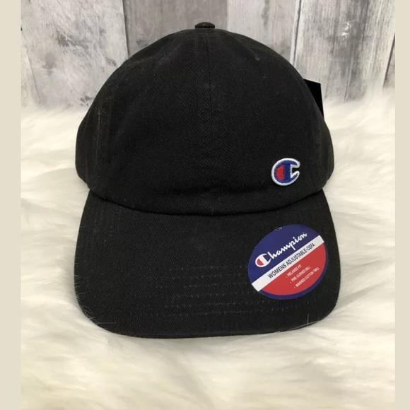 New Champion Dad Hat Embroidered Women s Black Hat 1f1e4e5148